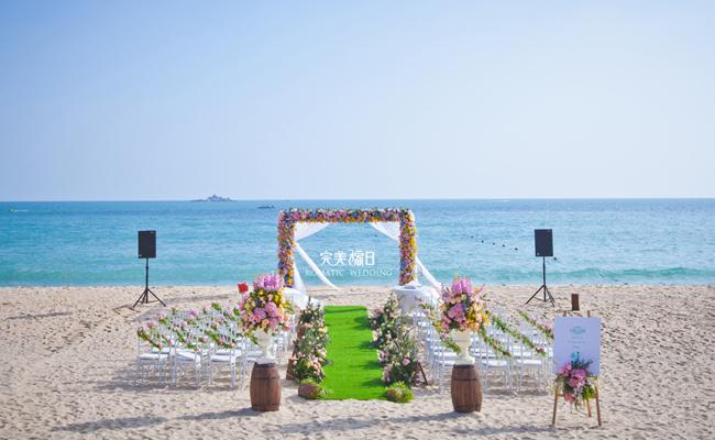 三亚海滩婚礼优势六:成熟的奢华酒店服务